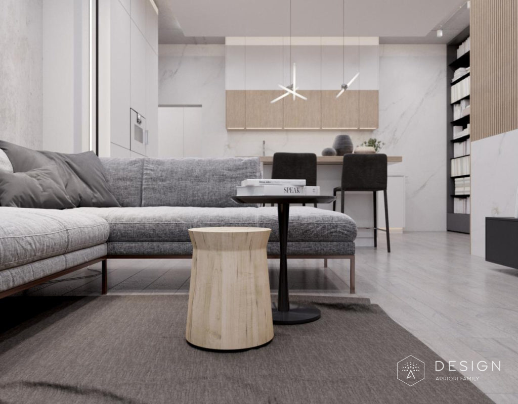 Дизайн интерьера квартиры в стиле лофт в ЖК Солнечный Олимп
