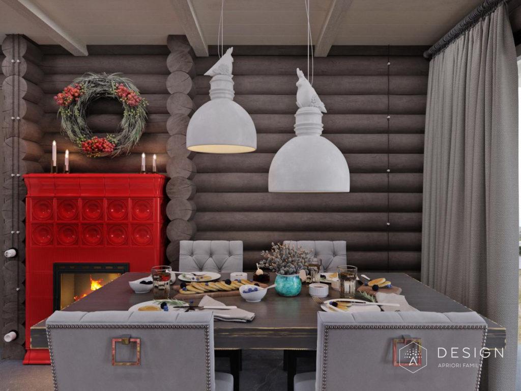 Дизайн интерьера коттеджа в поселке Летний берег