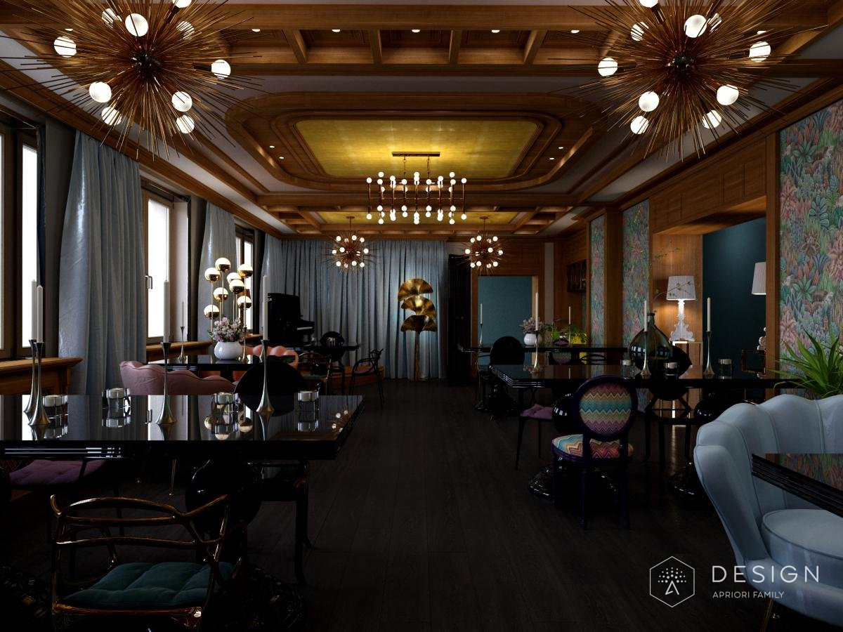 Дизайн ресторана отельного комплекса