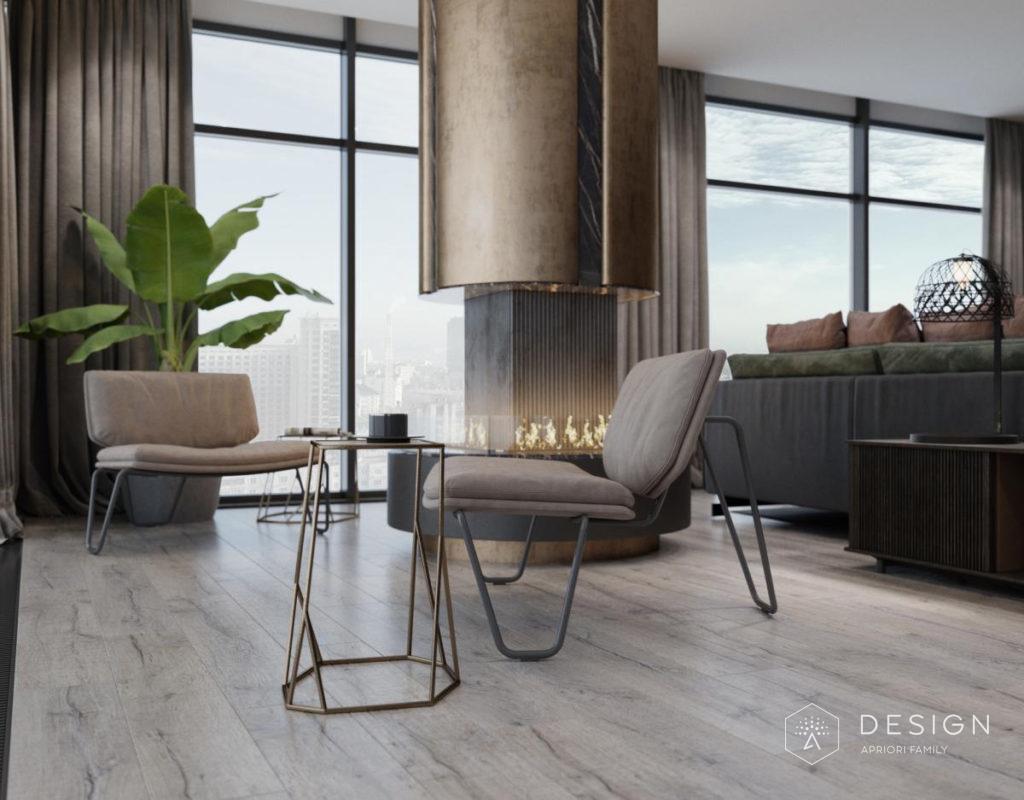 Дизайн интерьера апартаментов в Галерее Чижова