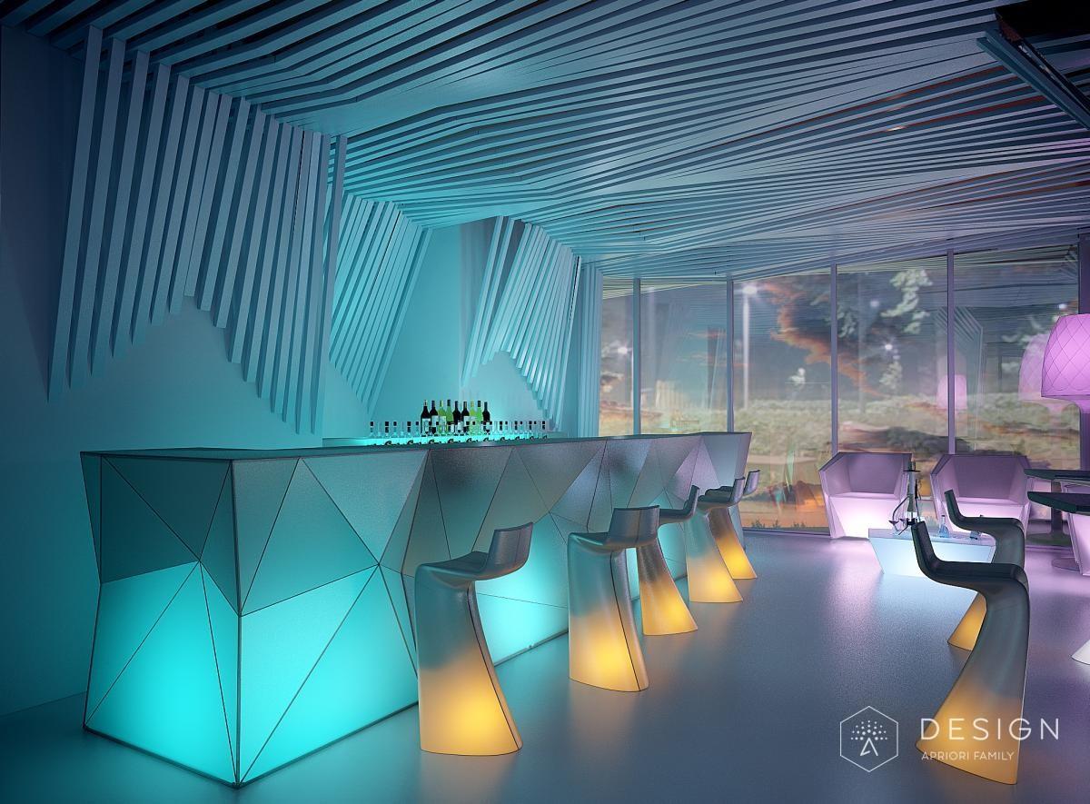 Дизайн интерьера ресторана SKY бар