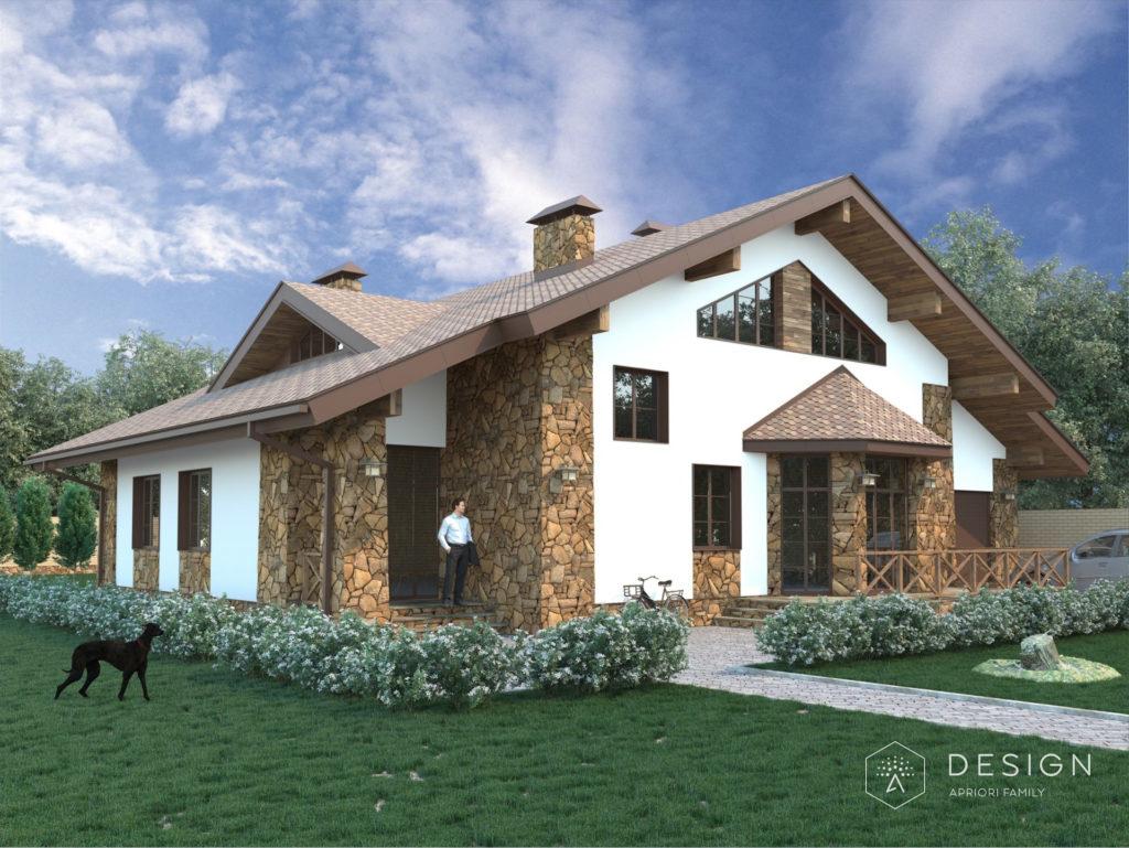 Архитектурный поект дома в п.Первозванный