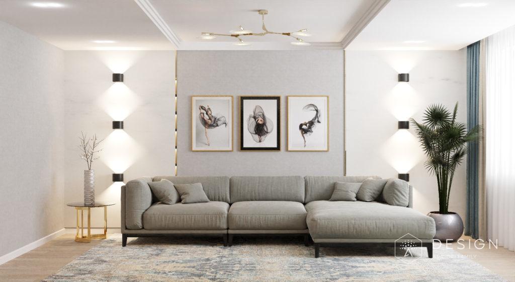 Дизайн интерьера квартиры в бежево-серых тонах